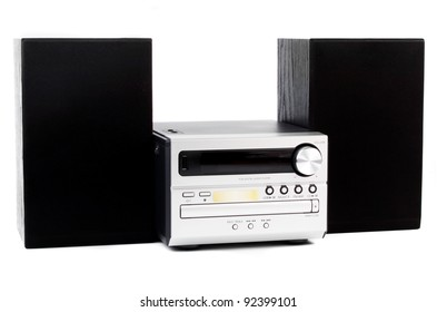 digital usb and cd player against the white background