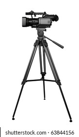 The digital video camera on the tripod