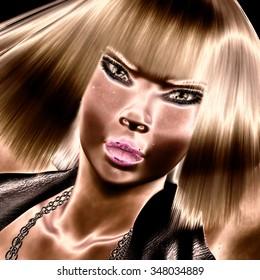 Digital Visualization of a female Face