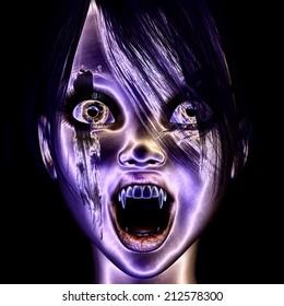 Digital visualization of a vampire
