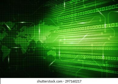 Digital world map , Globalization, Hi tech and synchronization