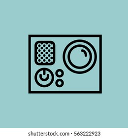 digital-camera icon. isolated sign symbol