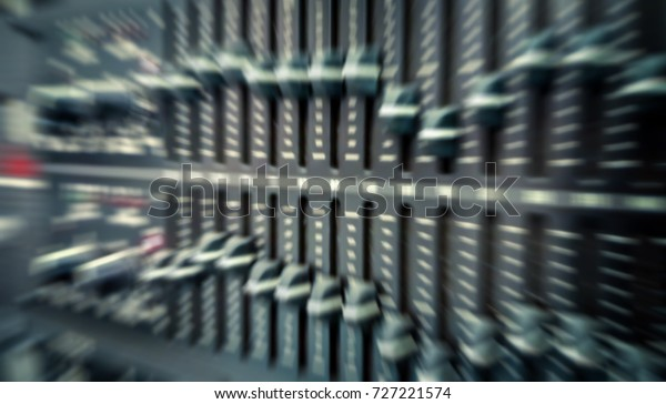 Digitally Blurred Zoom Motion Audio Control Stock Photo (Edit Now
