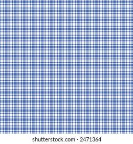 Digitally created blue and white plaid