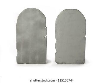 Digitally generated image of two gravestones.