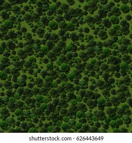 Digitally generated seamless background, that imitates satellite view of summer forest
