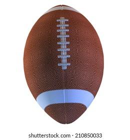 Digitally rendered illustration of an american football ball.