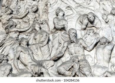Dijon (Cote-d'Or, Burgundy, France) - Facade of the Saint-Michel church, detail