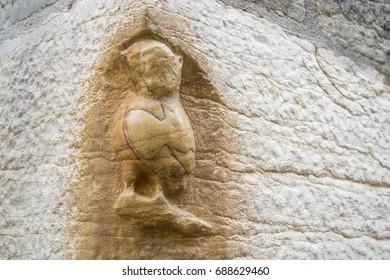 Dijon La chouette - A small stone made Owl.