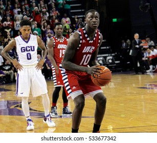 DIKEMBE DIXSON forward for the  University of Illinois at Chicago Flames at GCU Arena in Phoenix AZ USA December 10,2016.