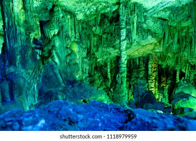 Dikteo Andro Cave also known as birth place of Zeus in Crete, Greece.