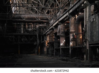 Dilapidated conditions of the old abandoned factory.