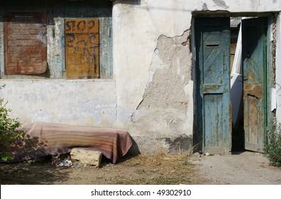 Dilapidated house in Sevastopol, Ukraine