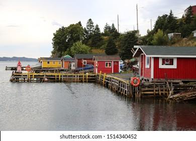 Dildo harbor, in Newfoundland - a small scenic fishing village in Newfoundland