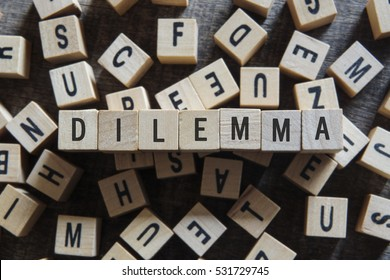 DILEMMA word concept
