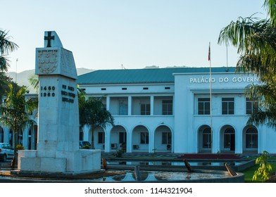 Dili Timor Leste on November 12, 2010: landmark of the city and monument was erected to memorize Portugese first landed