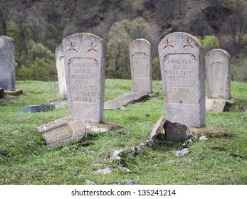 DILIJAN, ARMENIA - APRIL 13: Old muslim cemetery in Dilijan on April 13, 2013. Although up to 97% of Armenians follow Christianity, Islam influenced the country during the Arabic conquest.