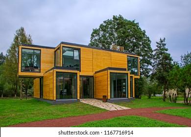 Maison Moderne Bois Images, Stock Photos & Vectors ...