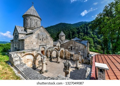 Dilijan, Armenia - July 9, 2018: Haghartsinis a 13th-centurymonasterylocated near the town ofDilijanin theTavush ProvinceofArmenia.