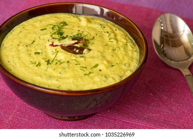 Dill and peanut kadhi is healthy version of North Indian kadhi. This healthy kadhi is made from peanut curd and dill leaves.