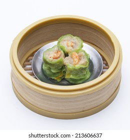 Dim Sum in Bamboo Steamed Bow