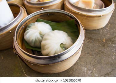 dim sum on plate. chinese cuisine