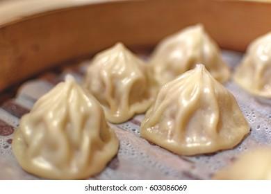 Dim sum in plate / Xiaolongbao in Taiwan