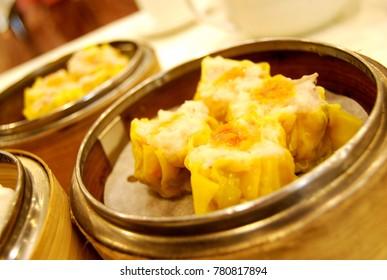 Dim sum is a popular breakfast.