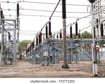 Diminishing perpective view of an electricity sub-station