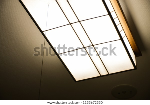 Dimmable Japanese Ceiling Lights Indoor Lighting Stock Photo Edit Now 1133672330