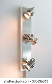 Dimmer lighting on room's wall