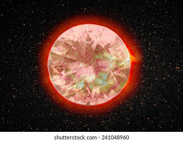 "Dimond sun ""Elements of this image furnished by NASA """