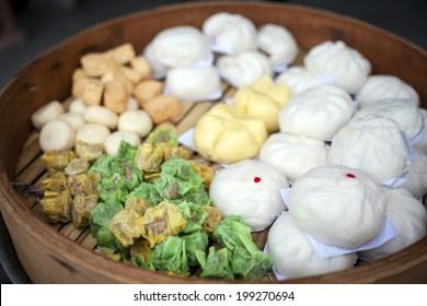Dimsum, Shumai, Siopao, Chinese steamed bun bread, Chinese Steamed Dumpling