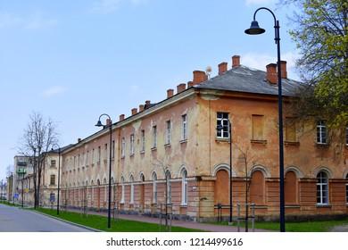 Dinaburga fortress brown brick architectural building in Daugavpils reminding cultural heritage in Latgale, Latvia