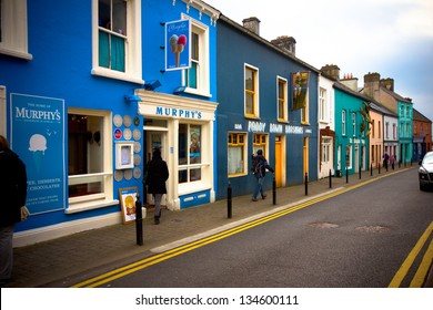 DINGLE, IRELAND - MAR 29: Quaint street in Dingle Ireland on Mar 29, 2013. Dingle is a town in County Kerry, Ireland. The only town on the Dingle Peninsula.