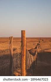 Dingo Fence at cober pedy