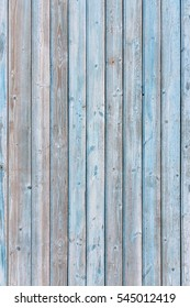 Dingy Grey Barn Wooden Wall Planking Vertical Texture. Old Solid Wood Slats Rustic Shabby Blue Background. Hardwood Dark Weathered Vintage Surface. Grungy Faded Timber Wood Rough Exterior Structure.