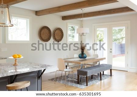 Dining Room Beautiful Luxury Home Hardwood Stock Photo Edit Now