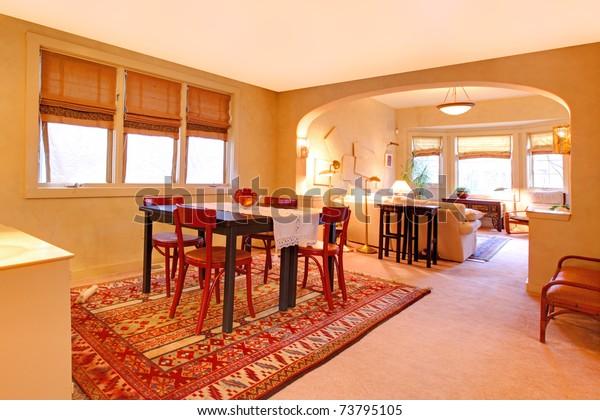 Dining Room Folk Design Warm Yellow | Transportation ...