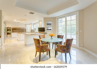 Dining room in luxury house