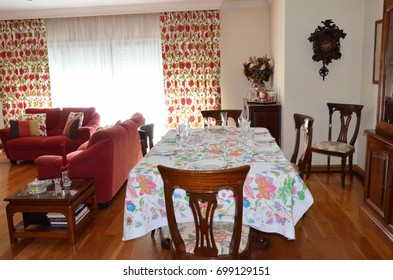 Dining room with party decoration