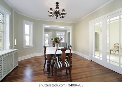 Dining room in remodeled home