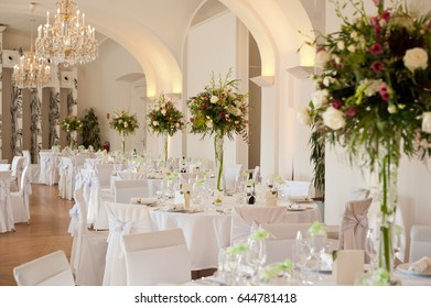 Dining room for weddings