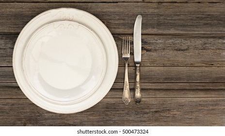 Dining setting or table setting of silverware or cutlery including a fork and a knife on & Dining Setting Table Setting Silverware Including Stock Photo ...