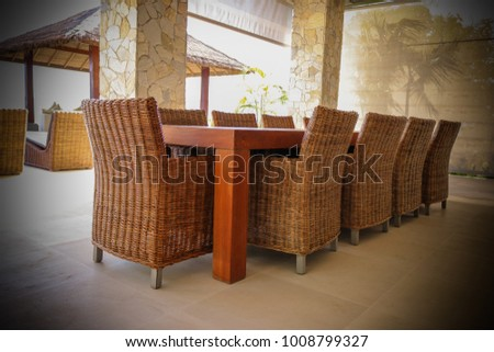 dining table 10 people luxury villa stock photo edit now 1008799327 shutterstock. Black Bedroom Furniture Sets. Home Design Ideas