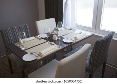 Dining table in the restaurant