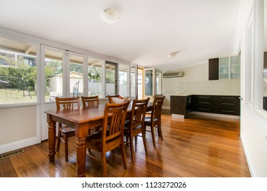 dining table in the spacious dining room