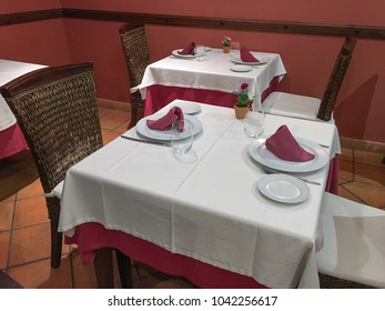 dining tables in the restaurant