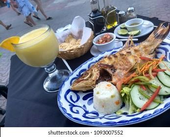 Dinner in Playa del Carmen, Mexico