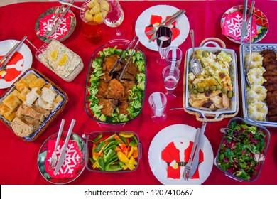 Dinner table for Christmas eve